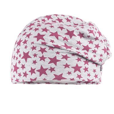 Minigirlaccessoires - maximo Girls Beanie Sterne graumelange dunkelpink - Onlineshop Babymarkt