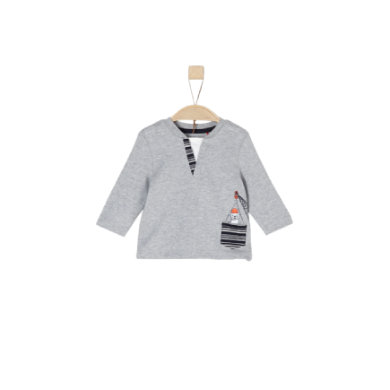 Babyoberteile - s.Oliver Boys Langarmshirt light grey melange - Onlineshop Babymarkt