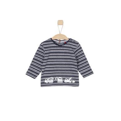 Babyoberteile - s.Oliver Boys Langarmshirt blue stripes - Onlineshop Babymarkt