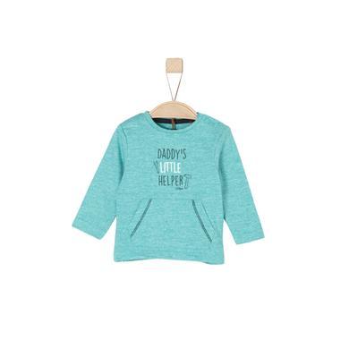 Babyoberteile - s.Oliver Boys Langarmshirt turquoise melange - Onlineshop Babymarkt