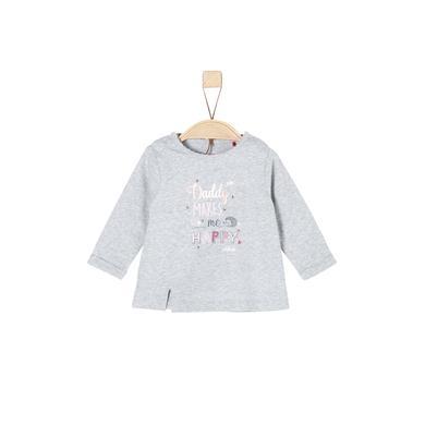 Babyoberteile - s.Oliver Girls Langarmshirt grey melange - Onlineshop Babymarkt
