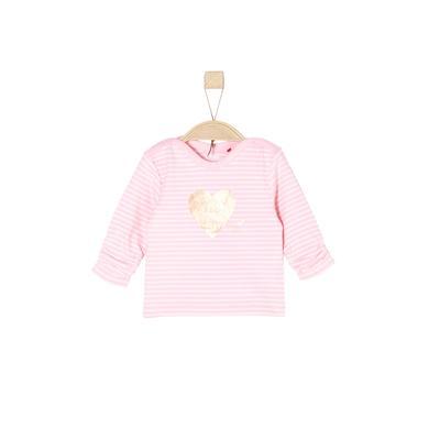 Babyoberteile - s.Oliver Girls Langarmshirt light pink stripes - Onlineshop Babymarkt