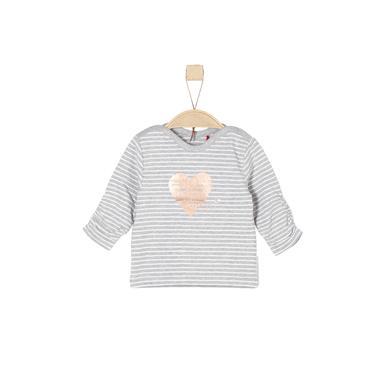 Babyoberteile - s.Oliver Girls Langarmshirt grey stripes - Onlineshop Babymarkt