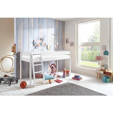 Kinderbetten - Relita Hochbett Michelle weiß  - Onlineshop Babymarkt
