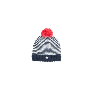 Minigirlaccessoires - s.Oliver Girls Mütze blue multicolored stripes - Onlineshop Babymarkt