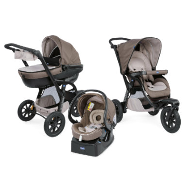chicco  Trio Activ3 a KIT-Car Dove Grey 2018 - šedá