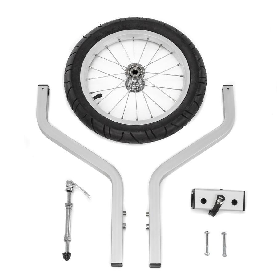 Qeridoo® Roue de remorque vélo à 2 assises 14, à dents