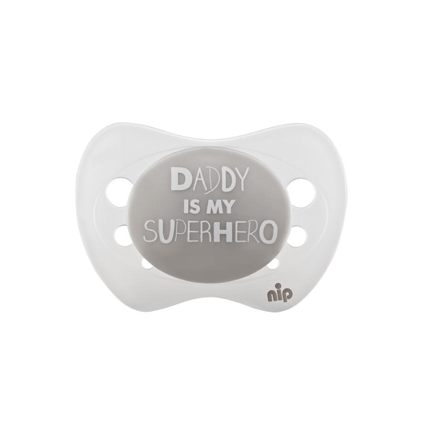 nip Napp Limited Edition 2016 storlek 1 Silikon Daddy is my superhero