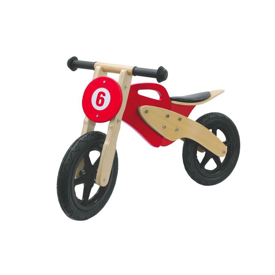 JAMARA Kids Laufrad Holzmotorrad, rot