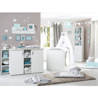 Babyzimmer - roba Sparset Constantin 2 teilig weiß  - Onlineshop Babymarkt
