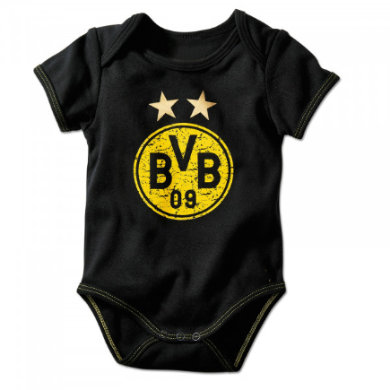 Image of BVB -Babybody Emblem - schwarz - Gr.Newborn (0 - 6 Monate) - Unisex