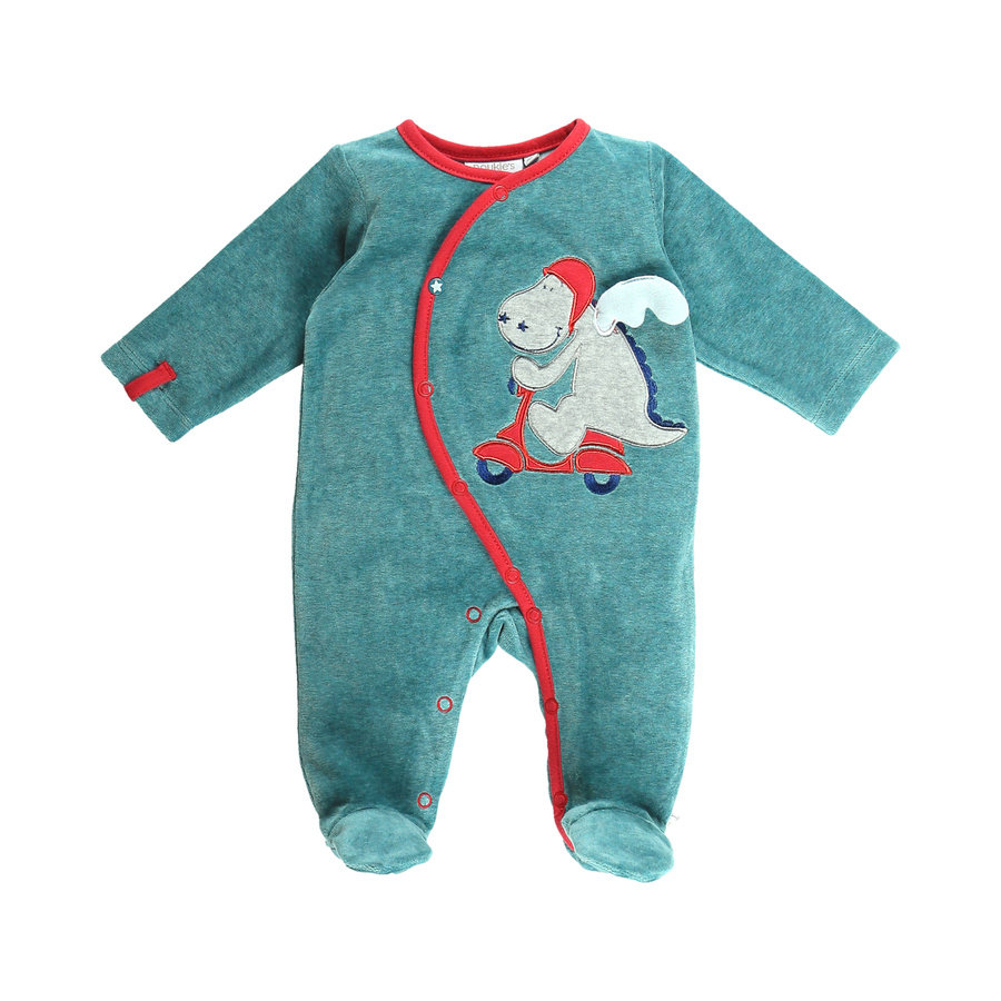 e6d0a08c72 noukie´s Boys Schlafanzug einteilig marl turquoise