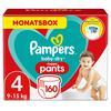 Pampers Pannolini Baby Dry Pants Mega Plus Taglia 4 (9-15kg) Confezione risparmio