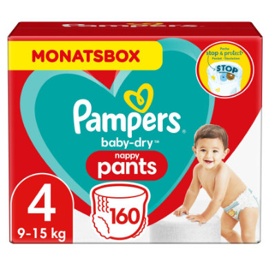 Image of Pampers Wind Elan Baby Droge luier Pants Gr. 4 Maxi 160 Wind eln 9 tot 15 kg Maandbox van Maxi 160 eln