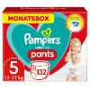 Pampers Pañales Baby Dry nappy Pants Tamaño 5 Junior 132 Pañales 12 - 17 kg Pack mensual