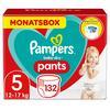 Pampers vaipat Vauvan kuivat vaippahousut Koko 5 Junior 132 -vaipat 12 - 17 kg: n kuukausirasia