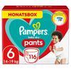Pampers Pañales Baby Dry Pants Talla 6 Extra largo 116 Unidades 15+ kg Caja mensual