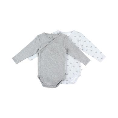 noukie's Body 2er Pack marl grey white grau Gr.ab 3 Monate Unisex