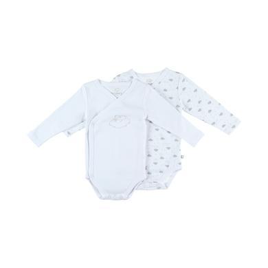 noukie's Body 2er Pack white aop weiß Gr.Newborn (46cm) Unisex