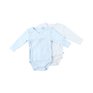 noukie's Body 2er Pack white aop blau Gr.ab 0 Monate Unisex