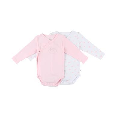 noukie's Girls Body 2er Pack light pink white rosa pink Gr.ab 1 Monat Mädchen