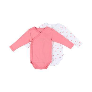 noukie's Girls Body 2er Pack macaron white rosa pink Gr.Newborn (46cm) Mädchen
