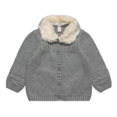 Esprit Baby Girls Strickjacke mid heather grey grau Gr.62 Mädchen