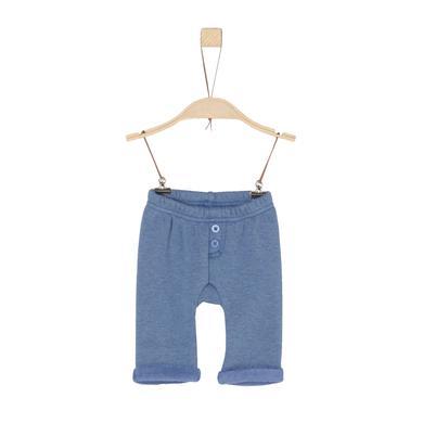 Image of s.Oliver Boys Pantaloni in pile blu melange melange - Gr.62