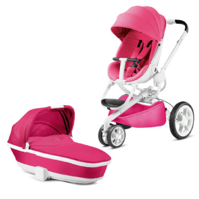 Quinny Buggy Moodd Pink Passion Wit frame met Reiswieg