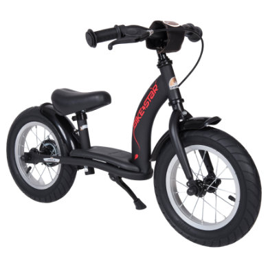 Bikestar bezpečné dětské odrážedlo 12'' Black matte