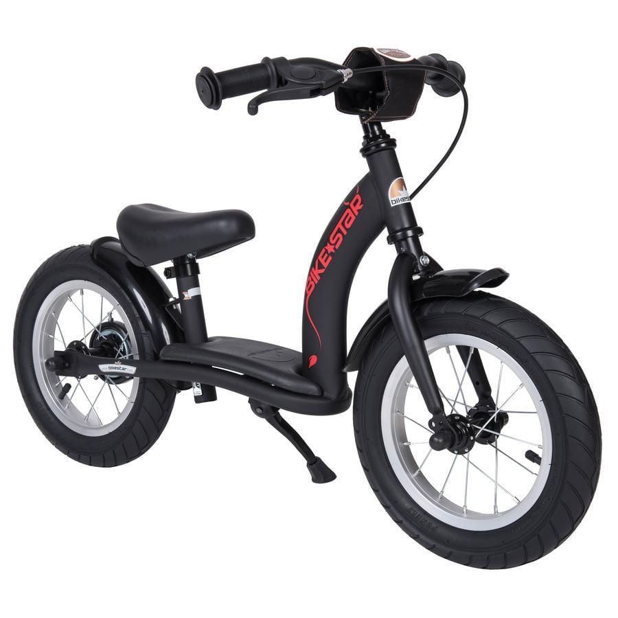 bikestar Sicherheits Kinderlaufrad 12 Schwarz Matt