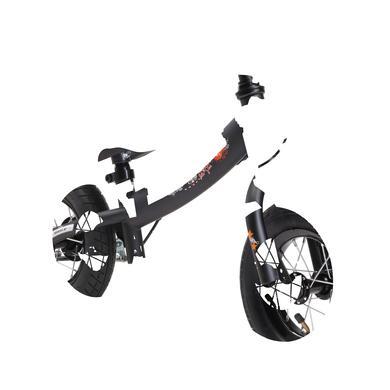 bikestar 10 Zoll Sicherheits Kinderlaufrad Sport, Schwarz schwarz
