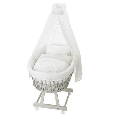Stubenwagen und Wiegen - Alvi ® Komplettstubenwagen Birthe silbergrau 865 9 Streifenfant  - Onlineshop Babymarkt