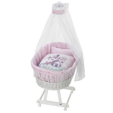 Stubenwagen und Wiegen - Alvi® Komplettstubenwagen Birthe weiß 813 2 Sternenschloss  - Onlineshop Babymarkt