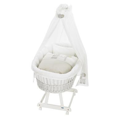 Stubenwagen und Wiegen - Alvi® Komplettstubenwagen Birthe weiß 882 6 Giraffe  - Onlineshop Babymarkt