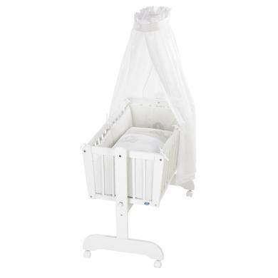 Stubenwagen und Wiegen - Alvi ® Komplettpendelwiege Sina weiß 865 9 Streifenfant  - Onlineshop Babymarkt
