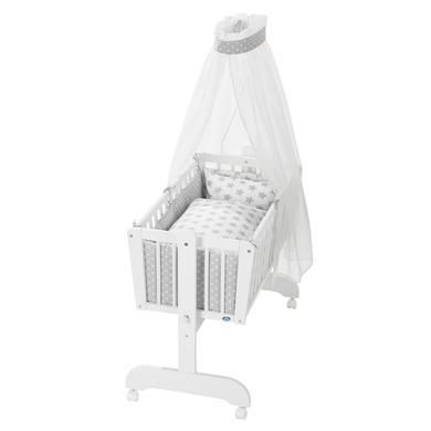 Stubenwagen und Wiegen - Alvi® Komplettpendelwiege Sina weiß 608 9 Stars silber  - Onlineshop Babymarkt