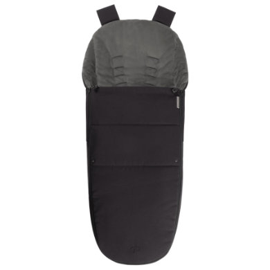 gb PLATINUM Fußsack für Maris Satin Black-black...