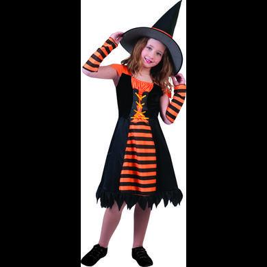 Kostuemefuermaedchen - Funny Fashion Kostüm Orange Hexe – orange – Gr.128 – Mädchen - Onlineshop Babymarkt