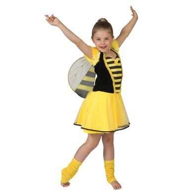 Karneval Kostüm Bonnie Biene - gelb - Gr.140 - Mädchen
