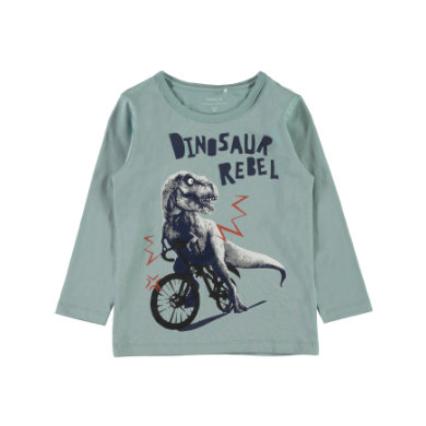 Minigirloberteile - name it Girls Langarmshirt Etbike stone blue - Onlineshop Babymarkt