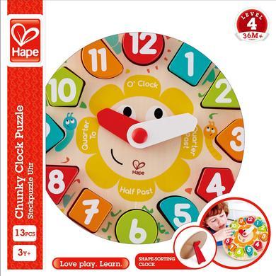 Hape puzzle hodiny