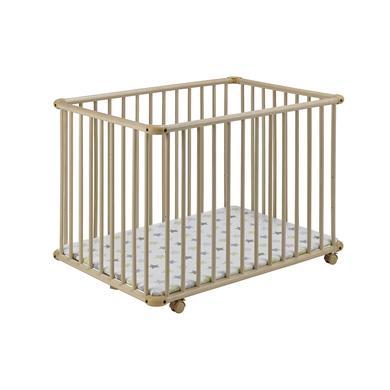 Laufgitter - Geuther Laufgitter Belami Plus 76 x 97 cm natur Sterne  - Onlineshop Babymarkt