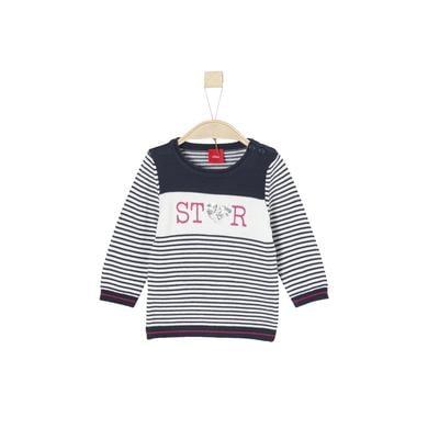 s.Oliver Girls Pullover dark blue stripes