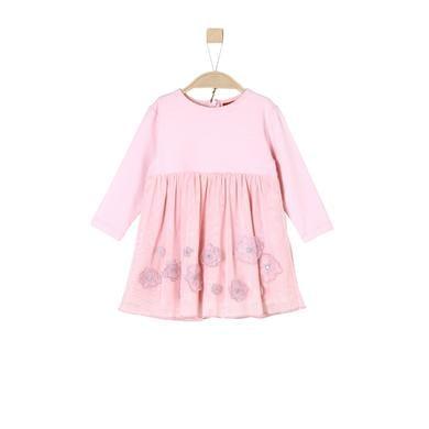 s.Oliver Girls Kleid light pink rosa pink Gr.74 Mädchen