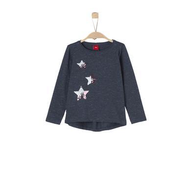 Minigirloberteile - s.Oliver Girls Langarmshirt blue stripes - Onlineshop Babymarkt
