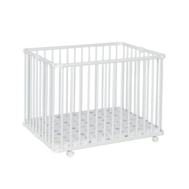 Laufgitter - geuther Laufgitter Lucilee Plus 76,2 x 97,4 cm weiß Sterne  - Onlineshop Babymarkt