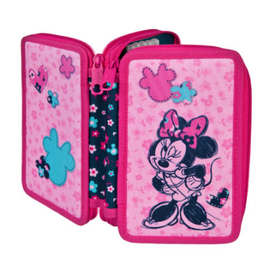 Scooli Doppeldecker Schüleretui, gefüllt Minnie Mouse