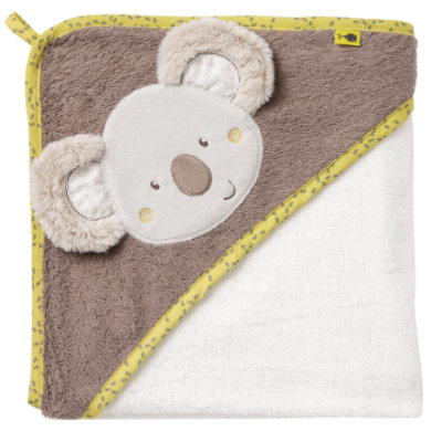 Kindertextilien - fehn ® Kapuzenbadetuch Koala beige Gr.80x80 cm  - Onlineshop Babymarkt