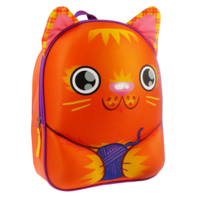 Kidzroom Animal Friends 3D Rucksack Katze orange